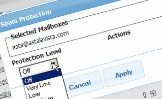Hepsia Email Manager Anti-Spam